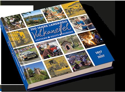 """Außenansicht des Geburtstagsbuchs """"200 Jahre Landkreis Vulkaneifel"""""""